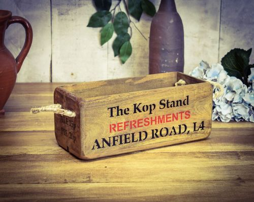 Vintage Small Wooden Stadium Box, Anfield Road